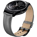 SUNDAREE Gear S2 Classic Armband/Galaxy Watch 42MM Armband/Gear Sport Band,20MM Echt Leder Armband Ersatzarmband Band Uhrenarmband für Samsung Gear S2 Classic/Galaxy Watch 42MM/Gear Sport(Grau Leder)