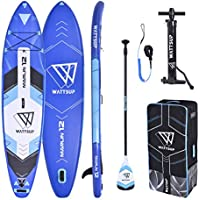 Wattsup Unisex Adulto PB-WMAR120 Hinchable Stand Up Paddle Caer Stitch un Lage Calidad Marlin 12' -365x81x15cm, Verde Naranja Negro, 12' x32'' x6'