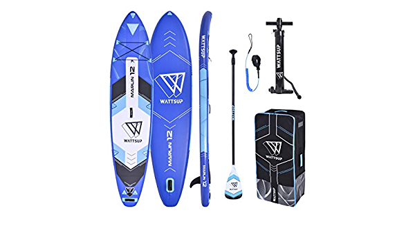 """WS WattSUP Marlin 12/'0/"""" SUP Board Stand Up Paddle Surf-Board Paddel ISUP 365x83cm"""