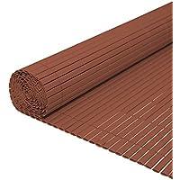 Hengda® Pantalla de privacidad Estera de PVC Valla jardin Protector contra el viento Cañizo PVC Doble Cara para jardín balcón y terraza (80X300cm)Marrón
