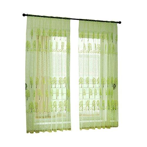 Fadenvorhang Türvorhang halbtransparent mit Kräuselband und Bleibandabschluss HxB 200x100 cm (1 Stück) Yonlanclot