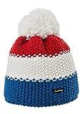Eisbär Kinder Mütze Star Pompon Mütze Kids Blockstreifen Size 55 (8 Yrs +): Farbe: Frankreich