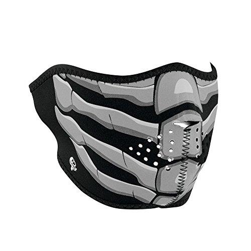 ZANheadgear Neopren Gesichtsmaske fuer Motorrad, Quad, Ski und Snowboard GLOW IN THE DARK WNFM168HG (Neopren Halb-gesichtsmaske)
