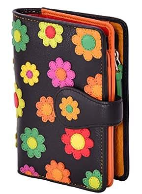 "Visconti Bifold Cuir Femme Portefeuille ""Daisy"", Floral Multicolor Purse(DS82):"