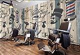 Moderno Dormitorio Murales Pared Papel Pintado Papel Tapiz 3D Personalizado Vintage Barbería Salón De Belleza Fondo De La Pintura De La Pared Papel Pintado Para Paredes, 200 * 140 Cm