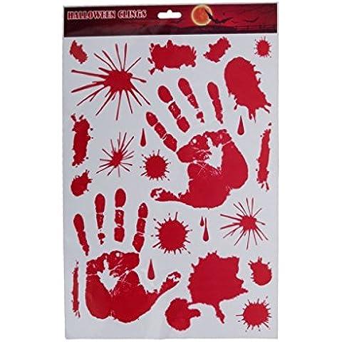 Sanguinosa Handprint Specchio Vetro Della Finestra Si
