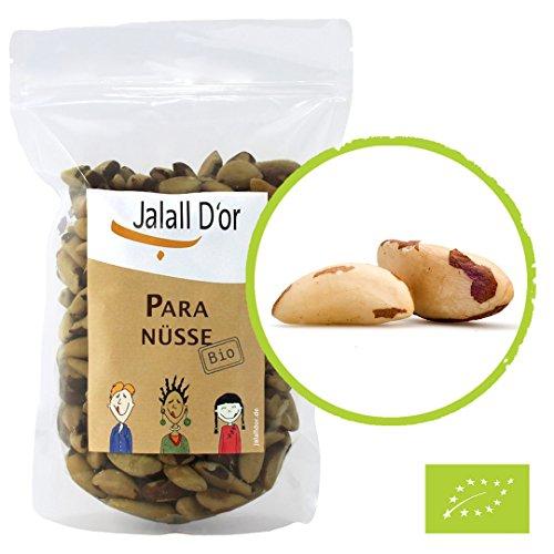 Paranüsse BIO natur Jalall D'or | 1 kg | Premium-Bio-Nüsse aus nachhaltigen § sozialen Projekten in Bolivien | Bioparanüsse frisch abgefüllt | größter natürlicher SELEN-Lieferant | natürliche ARGIN- & ZINK Quelle | Paranuss bio | 1000g