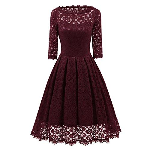Damen V-Ausschnitt Abendkleid Kurzarm Business Etuikleid Knielang Festliches Kleid rot,Blau...