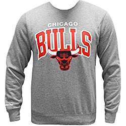 Mitchell & Ness NBA Chicago Bulls Crewneck Sweater Pullover Herren Mens
