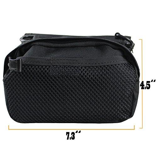 xhorizon® Hochdicht Wasserfest Militärtuch Fahrrad Radfahren RahmenPannier Seitentasche Front Tube Bag Double Side Bag Tactical Camouflage Style Schwarz
