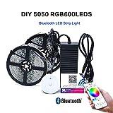 LED Lichtleiste 10m 600 LED Stripe RGB -LED Stripes Bluetooth Wireless Smart Phone Gesteuert SMD 5050 Leds mit Netzteil-LED Streifen-LED Bänder Full Kit.