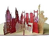 Pu71 Bezaubernde 3D Pop Up Gutscheinkarte mit Umschlag, Gutschein für Reisen, Ereignisse oder besondere Anlässe, Grußkarte mit Geldgeschenk,auch für Geburtstag,Einladung oder zur Genesung geeignet
