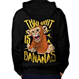 banane Singe Sauvage Animal Homme L Sweat à capuche le dos | Wellcoda