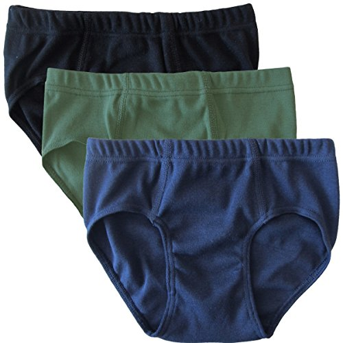 Jungen Slips (HERMKO 2850 3er Pack Jungen Slip aus 100% Baumwolle, Größe:152, Farbe:Mix s/m/o)