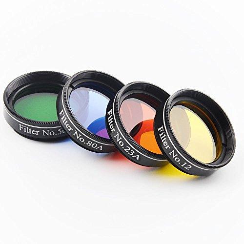 Solomark 31,7mm Teleskop Farbfilter 4er-Set für 1.25