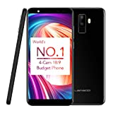 "Téléphone Portable Debloqué,Smartphone Pas Cher 3G,Leagoo M9 5.5"" Écran Quad Core 1.3GHz 8MP Quad Caméras 2 Go RAM + 16 Go ROM Extension de 32 Go Android 7.0 Langue Multinationale FOTA Améliorer de Leagoo Direct, Noir"