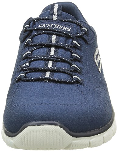 Skechers Empire Take Charge, Baskets Basses Femme Bleu (Nvy Marine)