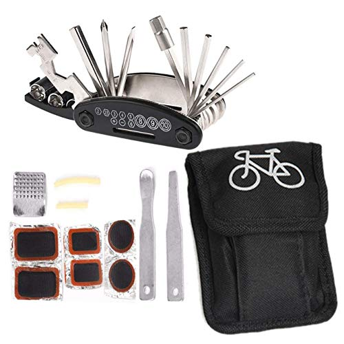 Xrten Multitool Fahrrad Reparatur Set,16 in 1 Fahrradwerkzeug Multifunktionswerkzeug