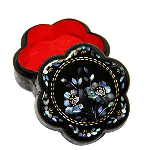 Gioielli fatti a mano lacca/portagioie prugna fiore a forma di lumaca Shell intarsio cinese, regali
