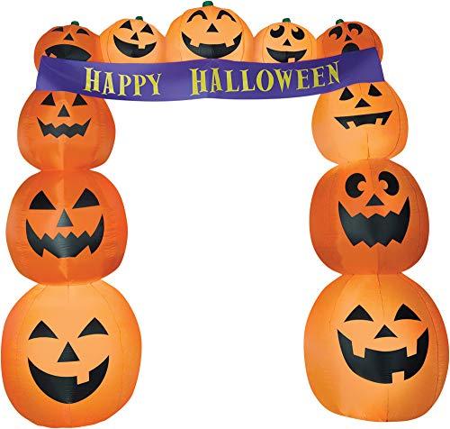 Gemmy Funkelndes 8,5'Airblown Torbogen Kürbisse Banner Halloween -