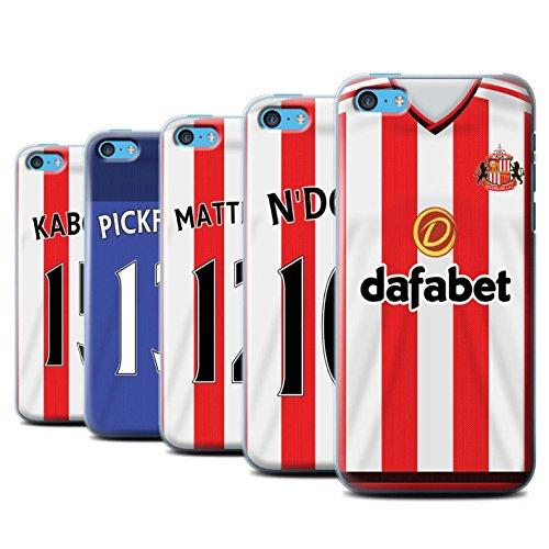 Offiziell Sunderland AFC Hülle / Case für Apple iPhone 5C / Fußballer Muster / SAFC Trikot Home 15/16 Kollektion Pack 24pcs