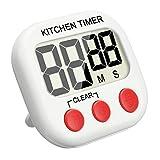 Reloj de Cocina, EIVOTOR Temporizador de Cocina, Reloj Digital con Pantalla Extra Grande, Alarma, Imán, Base Retráctil y Gancho para Colgado - Rojo