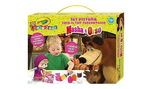 Crayola 7481 - Set Pittura, Crea il tuo Personaggio, Masha e Orso, Multicolore