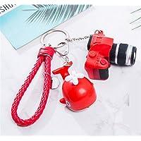 Hard Bone Schlüsselanhänger in Form Einer Kamera, aus hartem Knochen, Rot