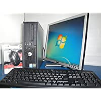 WINDOWS 7 DELL DESKTOP COMPUTER & MONITOR PACKAGE 2.8GHZ 80GB 4GB OFFICE DVD