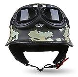MOTO HELMETS D33 Set Army Woods - Brain-Cap - Demi-coque casque jet casque de moto...