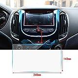 Cobear 10,2 Zoll HD Auto Navigation Schutzfolie Transparent Gehärtetes Glas Schutz passt für LCD GPS Navi Touch-Display 240×143mm