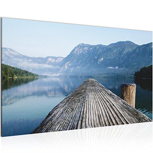 Bild 70 x 40 cm - Steg Bilder- Vlies Leinwand - Deko für Wohnzimmer -Wandbild - XXL Teile - leichtes Aufhängen- 806014a