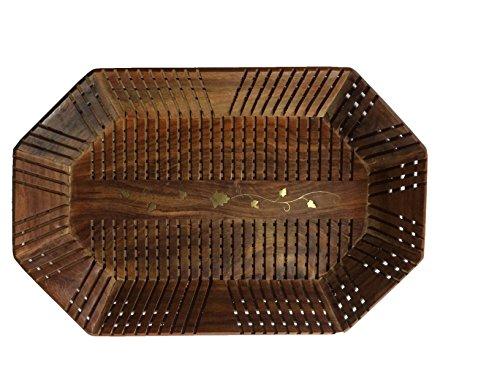 IndiasBigShop-regalo-di-giorno-del-padre-Handmade-in-legno-Vassoio-14x9-pollici-Vassoio