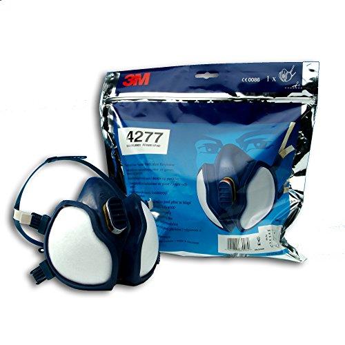 3M Maschera protettiva a mezzo viso contro gas organici, inorganici e acidi , vapore e particelle