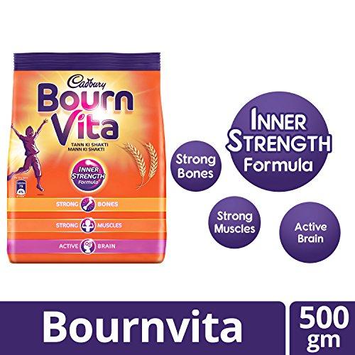 Cadbury Bournvita Pro-Health Chocolate Health Drink, 500 gm Refill Pack
