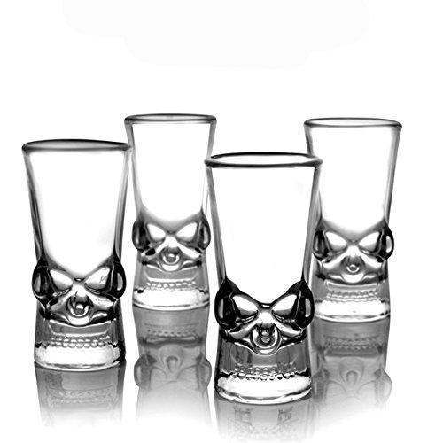Bluelover Kreative Klaren Kopf 50Ml Glas Wodka Whisky Branntwein Glastasse