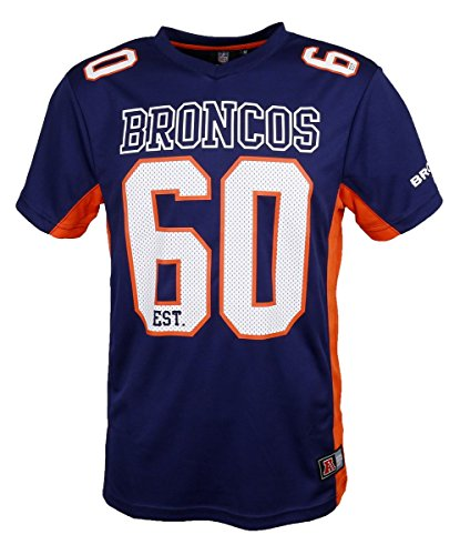 Majestic Denver Broncos Moro Est. 60 Mesh Jersey NFL T-Shirt L