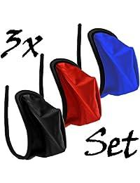 3er Set Herren C-String Basic Slip Männer Mini Tanga Dessous Gogo S/M/L
