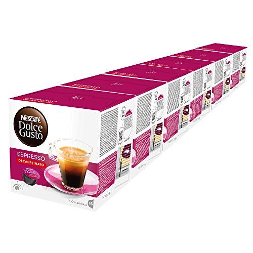 NESCAFÉ DOLCE GUSTO Espresso Decaffeinato Caffè Espresso Decaffeinato, 6 Confezioni da 16 Capsule (96 Capsule)