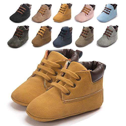 Sabe Baby Girls Boys Soft Sole Boots Leather First Prams Crib Shoes Toddler Slip-on Sneaker