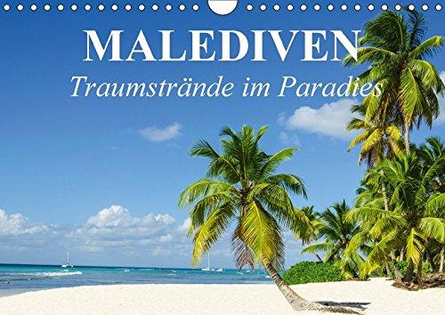 Malediven - Traumstrände im Paradies (Wandkalender 2017 DIN A4 quer): Die traumhafte Inselwelt der Malediven für Erholungssuchende und Taucher (Monatskalender, 14 Seiten ) (CALVENDO Orte) Indischer Ozean Tauchen