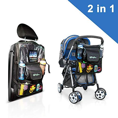 Protezione sedile auto bambini - mybabyboss sedile auto bambini, proteggi sedile posteriore auto, borsa passeggino. touchscreen per ipad, lavabile dimensioni 68 x 43 cm