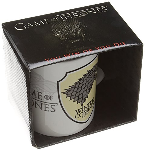 Lasgo Game Of Thrones Tazza Stark, Ceramica, Multicolore, 12x10.8x9.2 cm