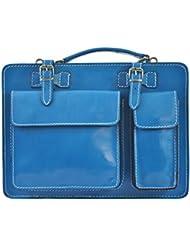 CTM De la bolsa de negocios, maletín, organizador de cuero genuino italiano hecho en Italia Unisex D7006 - 35x25x12 Cm