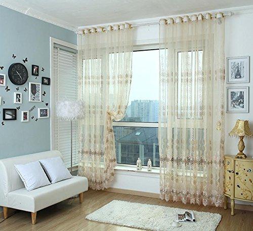 ge Premium Transparent Jacquard Gestickte Hollow Wohnzimmer/drapieren / Tafeln/Behandlung Größe 40 * 110inch, 2 ()