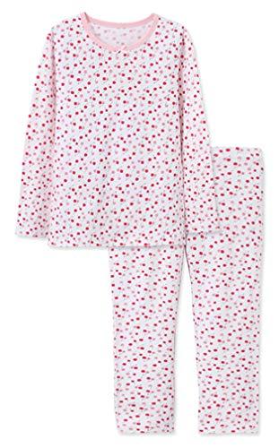 ABClothing Little Girls Pyjama 2 Stück Set Baumwolle Kirsche Nachtwäsche für Kinder 2-7 T Schlafanzüge