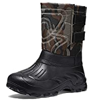 Mens Winter Hiking Boots Warm Insulated Fur Snow Boots Work Hunting Booties for Men Green 7 UK