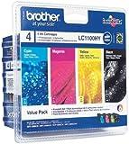 Brother LC1100HY Value Pack - Print cartridge - High Yield - 1 x black, yellow, cyan, magenta