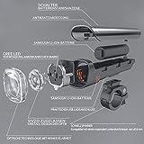 Degbit LED Fahrradbeleuchtung Set, Degbit StVZO Zugelassen USB Wiederaufladbare LED Fahrradlicht Set, Fahrradlampe Set inkl, LED Frontlichter Frontlich und Rücklicht, 60Lux Akku USB Aufladbare Fahrradlichter -