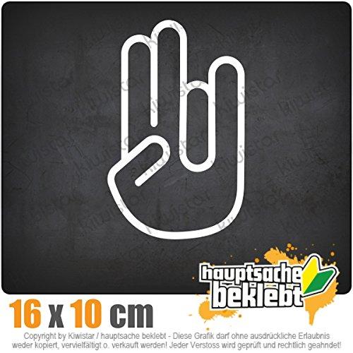 The Shocker Hand 16 x 10 cm In 15 Farben - Neon + Chrom! JDM Sticker Aufkleber (Hand-aufkleber)